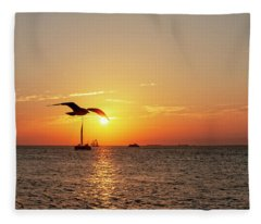 The Famous Key West Sunset  Fleece Blanket
