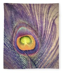 The Feather In Colour Fleece Blanket