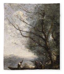 The Ferryman, Circa 1865 Fleece Blanket
