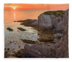 Nova Scotian Sunset Fleece Blanket