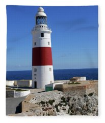 The First And Last Lighthouse On The Continent Of Europe Fleece Blanket