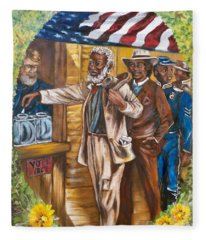 Historical  Artwork     First Vote - 1867 Fleece Blanket