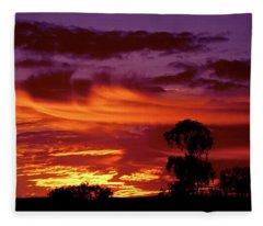 The Flame Thrower Fleece Blanket