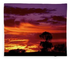 The Flame Thrower Fleece Blanket