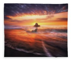 The Flaming Rock Fleece Blanket