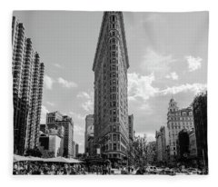 The Flatiron Building New York Fleece Blanket