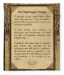 The Florence Nightingale Pledge 1893 Fleece Blanket