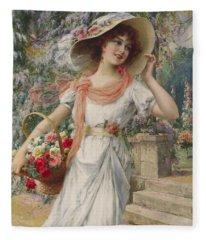 The Flower Girl Fleece Blanket