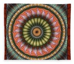 The Flowering Of The Sunshine Moons Fleece Blanket