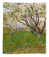 The Flowering Orchard, 1888 Fleece Blanket