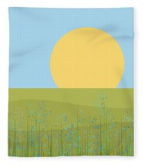 The Flowers After The Rain Fleece Blanket