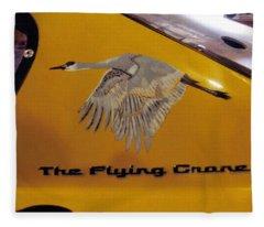 The Flying Crane Fleece Blanket