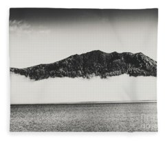 The Fog And The River Fleece Blanket