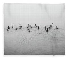 The Foggy Passage Fleece Blanket