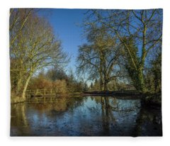 The Ford At The Street Fleece Blanket