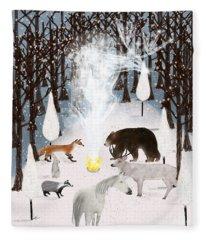 The Forest Guardians Fleece Blanket