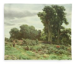 The Forest Of Meiklour, Perthshire Fleece Blanket
