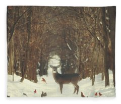 The Forest Of Snow White Fleece Blanket
