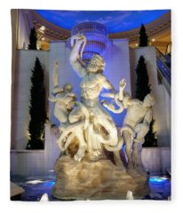 The Forum Shop Statues At Ceasars Palace Fleece Blanket
