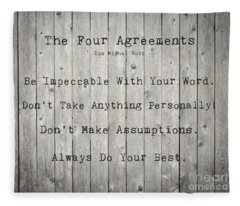 The Four Agreements 12 Fleece Blanket