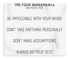 The Four Agreements #minismalism #shortversion Fleece Blanket