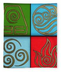 The Four Elements Fleece Blanket