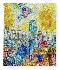The Four Seasons Chicago Portrait Fleece Blanket