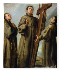 The Franciscan Martyrs In Japan Fleece Blanket
