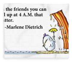 The Friends That Matter Fleece Blanket