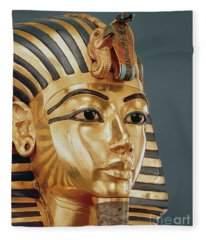 The Funerary Mask Of Tutankhamun Fleece Blanket