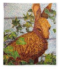 The Garden Hare Fleece Blanket