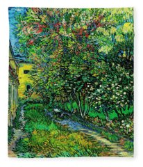The Garden Of The Asylum At Saint-remy Fleece Blanket