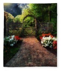 The Garden Path Fleece Blanket