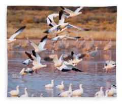 Fleece Blanket featuring the pyrography the Gathering by Michael Lucarelli