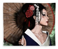The Geisha Fleece Blanket