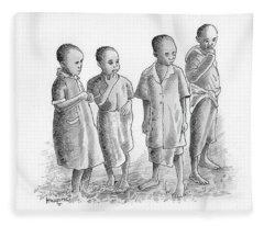 Children Together Fleece Blanket