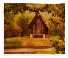 The Glass Chapel At Powell Gardens - Kansas City, Missouri Fleece Blanket