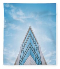 The Glass Tower On Downer Avenue Fleece Blanket