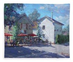 The Glen Oven Cafe Fleece Blanket