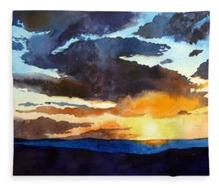 The Glory Of The Sunset Fleece Blanket