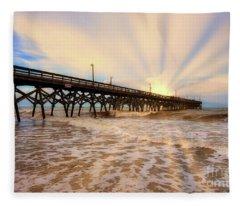 The Glow Of Sunrise Fleece Blanket