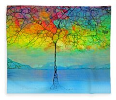 The Glow Tree Fleece Blanket