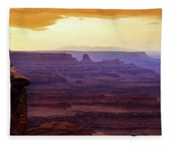 The Gold Light Of Dawn Fleece Blanket