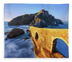 The Golden Bridge Fleece Blanket