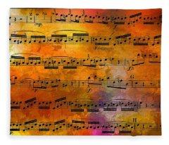 The Golden Music Of Motzart Fleece Blanket