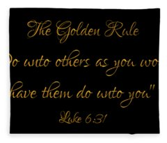 The Golden Rule Do Unto Others On Black Fleece Blanket