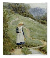 The Goose-girl  Fleece Blanket