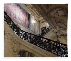 The Grand Staircase The Breakers Vanderbilt Mansion Newport Rhode Island Fleece Blanket