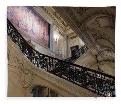 The Grand Staircase The Breakers Vanderbilt Mansion Newport Rhode Island Fleece Blanket