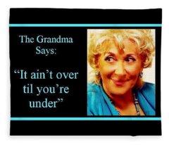 The Grandma Over And Under Fleece Blanket
